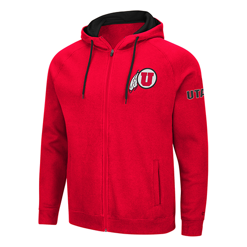Image For Utah Utes Men's Full-Zip Hoodie
