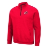 Image for Utah Utes Red Quarter-Zip Sweatshirt with Black Zipper