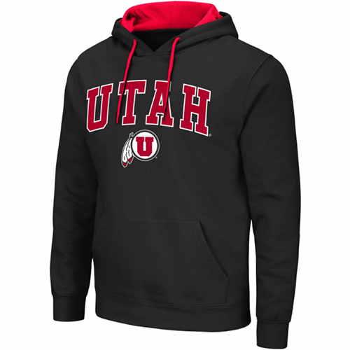 Image For Utah Utes Colosseum Black Basics Hoodie