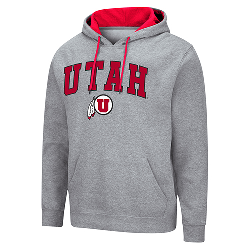 Image For Utah Utes Colosseum Grey Basics Hoodie