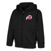 Image for Utah Utes Black Colosseum Toddler Zip-Up Sweatshirt