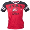 Image for Utah Utes Girls Rhinestone Athletic Logo T-Shirt