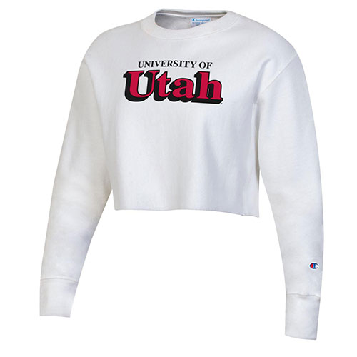 Image For University of Utah Champion Cropped Crew