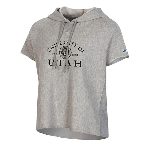 Image For Utah Utes Champion Women's Cropped Hooded Tee