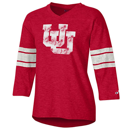 Image For Utah Utes Women's Interlocking U Jersey Tee