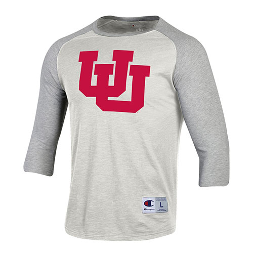 Image For Utah Utes Interlocking U Raglan Tee