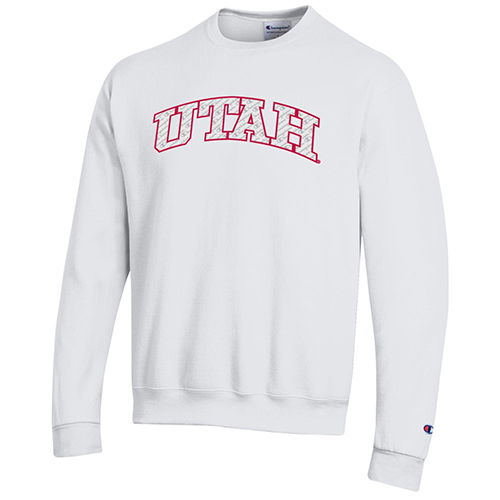 Cover Image For Utah Utes Champion Repeating Logo Crewneck Sweatshirt