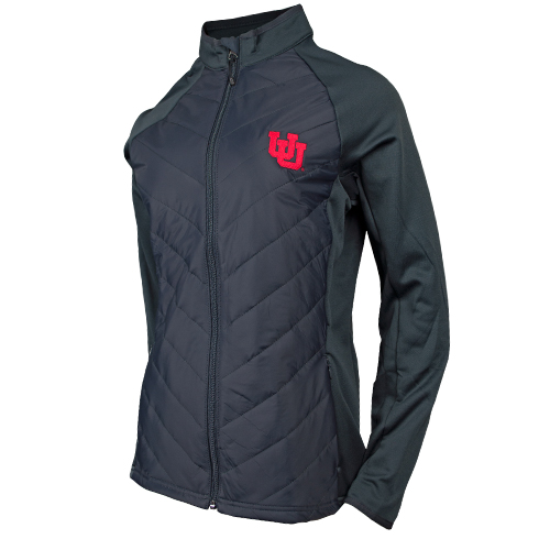 Image For Utah Utes Women's Antigua Quilted Interlocking U Jacket
