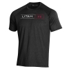 Image for Utah Utes Men's Under Armour Utah Black T-Shirt