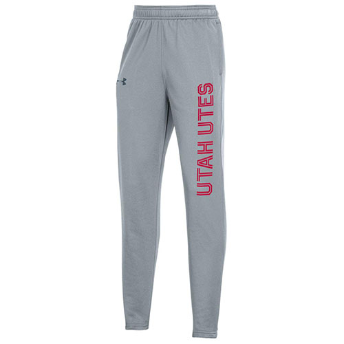 Image For Utah Utes Youth Under Armour Gray Sweatpants