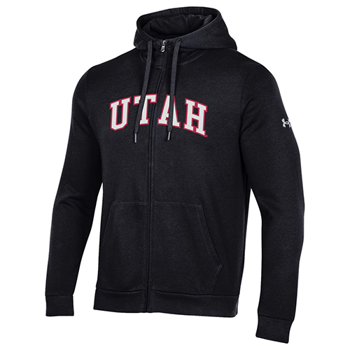 Cover Image For Utah Utes Under Armour Full-Zip Hoodie