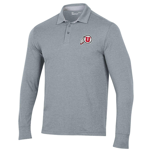 Image For Utah Utes Long Sleeve Under Armour Polo