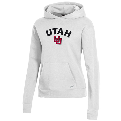 Image For Utah Utes Women's White Embroidery Under Amour Hoodie