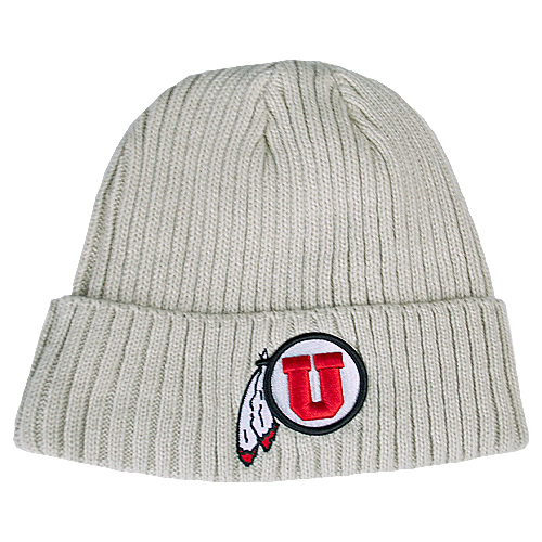 Image For New Era Tan Utah Utes Athletic Logo Beanie