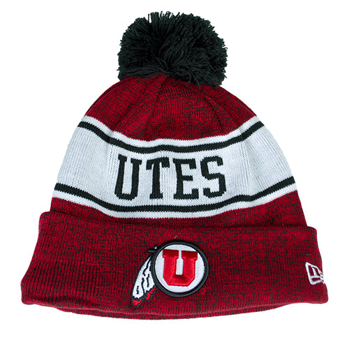 Image For New Era Utah Utes Athletic Logo Beanie