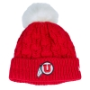 Image for New Era Red Knitted Athletic Logo Beanie