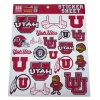 Cover Image for Utah Utes Red Athletic Logo Sticker Sheet