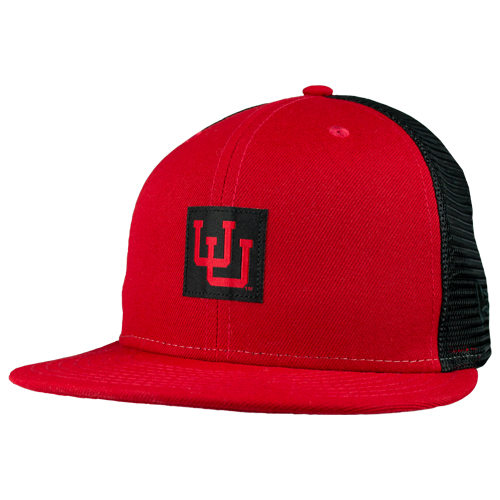 Image For New Era Interlocking U Black Mesh Snapback