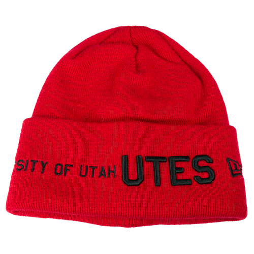 Image For New Era U of U Red Beanie