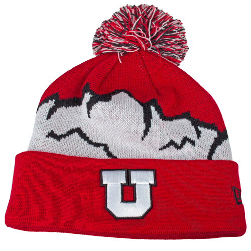 Image For New Era Red n White Mountains Beanie