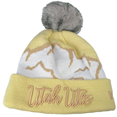 Image For New Era White n Cream Mountains Beanie