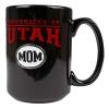 "Image for ""University of Utah Mom"" Black Coffee Mug"