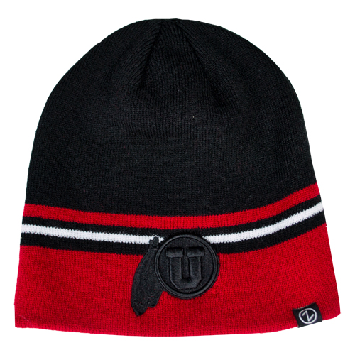 Image For Zephyr Colorado Collection Black Athletic logo Beanie