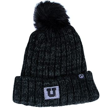 Image For Zephyr Colorado Collection Black Block U Beanie