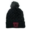 Image for Black Knit Faux Fur Beanie with Pom Pom