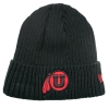 Image for Black Knit Athletic Logo Cuffed Beanie