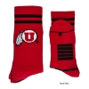 Image for Red and Black Athletic Logo Socks