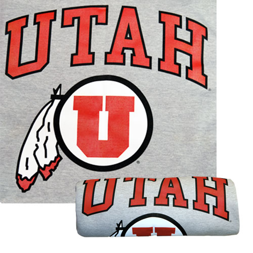 Image For Gray U of U Athletic Logo Blanket