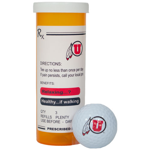 Cover Image For Utah Utes Prescription Golf Balls