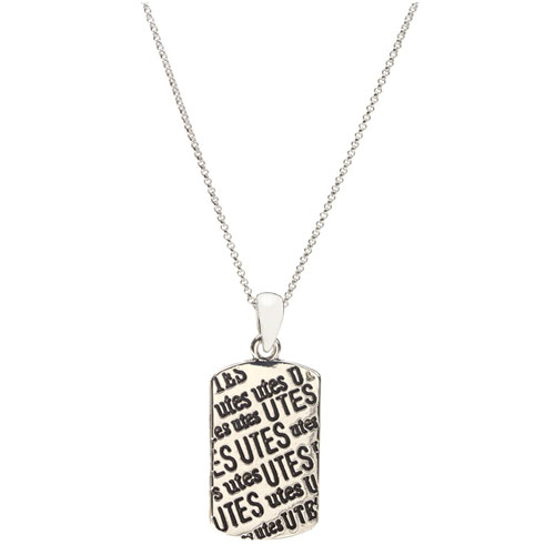 Image For Utes Dog Tag Necklace